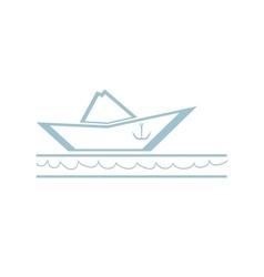 Paper Boat Symbol vector image vector image