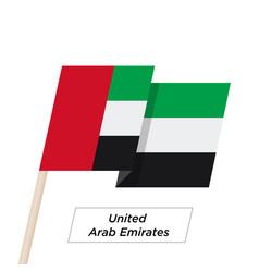 united arab emirates ribbon waving flag isolated vector image