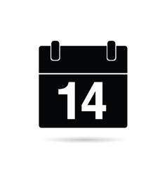 calendar icon on a white vector image