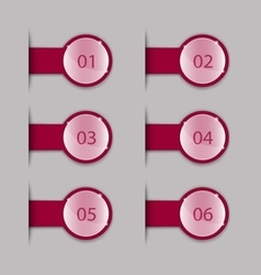 Crimson tabs vector image vector image