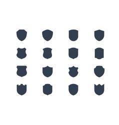 Shield shapes vector image vector image