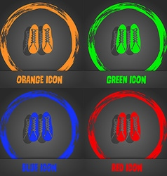 shoes icon Fashionable modern style In the orange vector image vector image