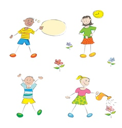 funny school kids vector image vector image