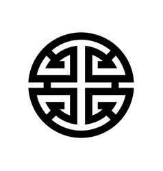 image of the symbol of luck and happiness vector image