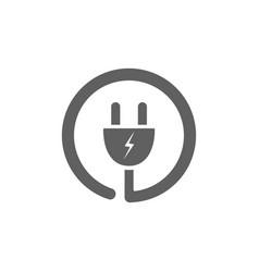 plug icon on a white background vector image