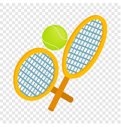 tennis rackets with ball isometric icon vector image