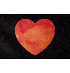 Abstract heart-shaped banner vector