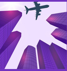 advertising of travel solar violet glare city vector image