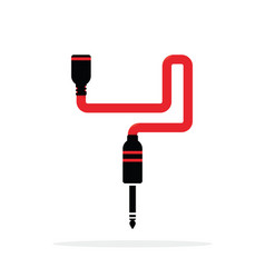 alphabet y letter logo formed jack cable vector image