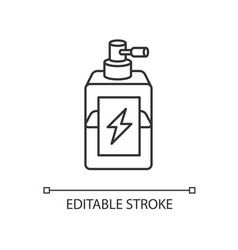 Antistatic hair sprayer pixel perfect linear icon vector