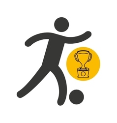 avatar winner trophy first place sport vector image