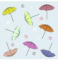 Backdrop With Umbrellas vector image