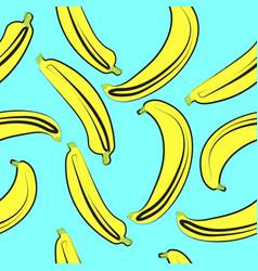 bananas seamless pattern on light vector image