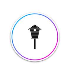 bird house icon isolated on white background vector image