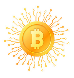 bitcoin symbol icon sign emblem vector image