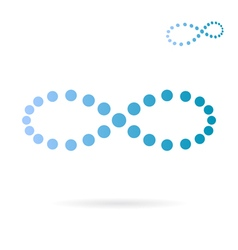 Blue dotted infinity sign vector