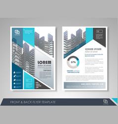 business flyer presentation vector image