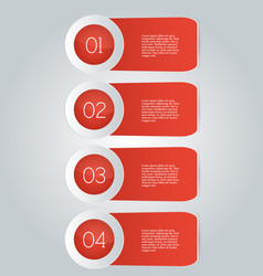 business infographics template red color vector image