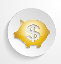 Button Dollar Piggy bank design vector image