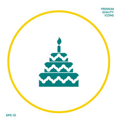 cake symbol icon graphic elements for your design vector image