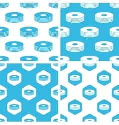 Cd stack patterns set vector