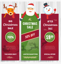 christmas sale cards 02 vector image
