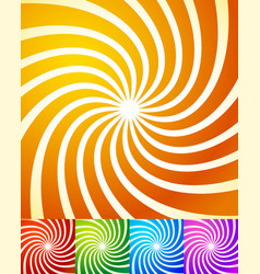 Colorful swirling shapes abstract background set vector