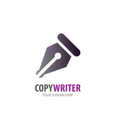 copywriter logo for business company simple vector image