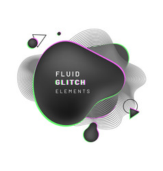 Cover background with abstract black liquid shape vector