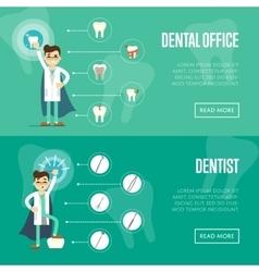 Dental office horizontal website templates vector