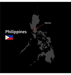Detailed map of Philippines and capital city vector image