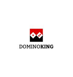 Domino king logo design concept vector