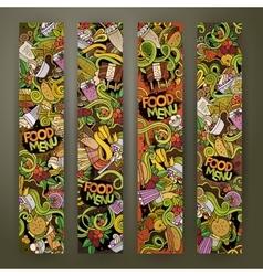 doodles food banners design vector image