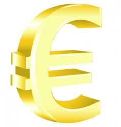 Euro sign vector