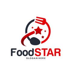 Food star logo designs concept elite restaurant vector