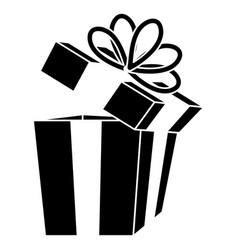 gift box presents icon vector image