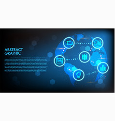 global abstract digital business and technology vector image