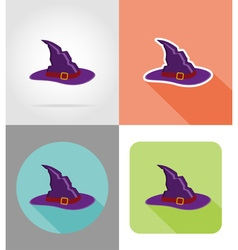 halloween flat icons 13 vector image