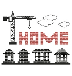 Home made of bricks vector