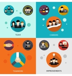 Human Resources Set vector
