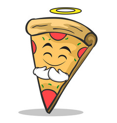 innocent face pizza character cartoon vector image
