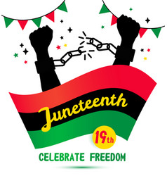 Juneteenth day background celebration of 19 june vector