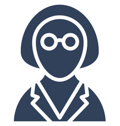 Maid icon which can easily modify or edit vector