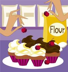 making cupcakes vector image