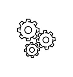 mechanical gears icon vector image