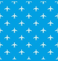 passenger plane pattern seamless blue vector image