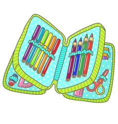 Pencil case vector image vector image
