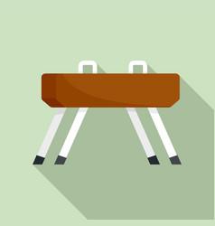 pommel horse icon flat style vector image