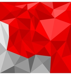 Red and grey triangle flat mosaic background vector image