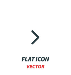 Right chevron icon in a flat style pictograph vector